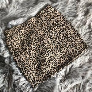 Vintage Cheetah Print Skirt